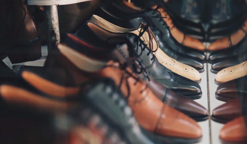 shoes kept aligned