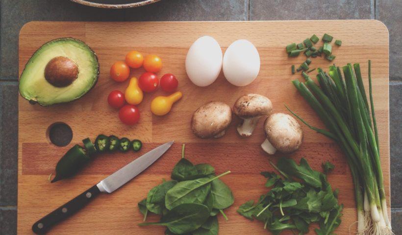 food items on cutting board