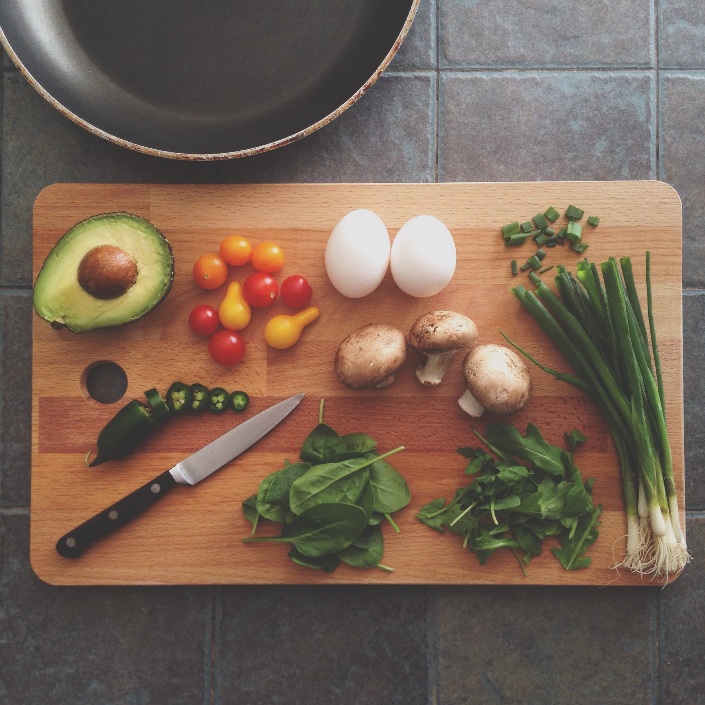 food items on cutting board