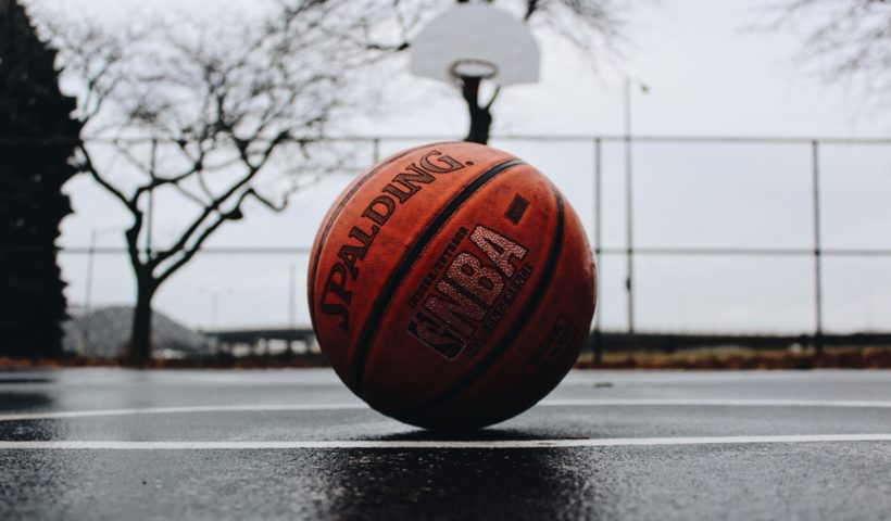 basketball in court